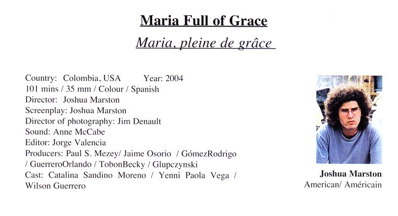 Maria Full of Grace Cast